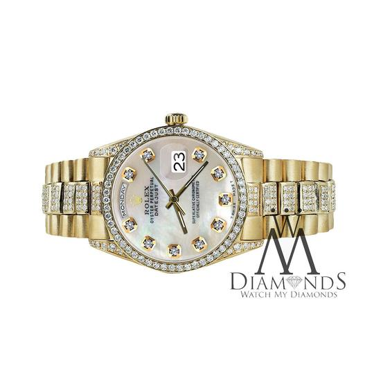 Rolex Rolex Yellow Gold Presidential Day Date White Dial Diamond 18 KT Gold Image 3