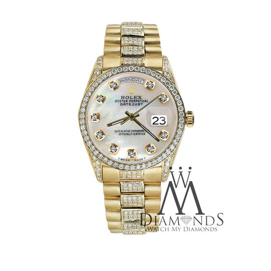 Rolex Rolex Yellow Gold Presidential Day Date White Dial Diamond 18 KT Gold Image 4