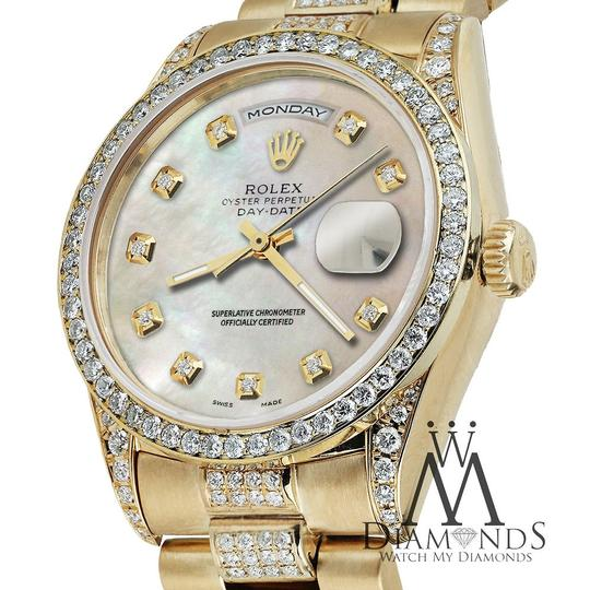 Rolex Rolex Yellow Gold Presidential Day Date White Dial Diamond 18 KT Gold Image 5