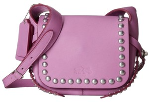 Coach Studded Purple Light Purple Leather Cross Body Bag