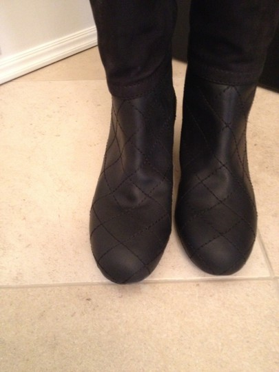Chanel Suede Leather Classic BLACK Boots Image 2