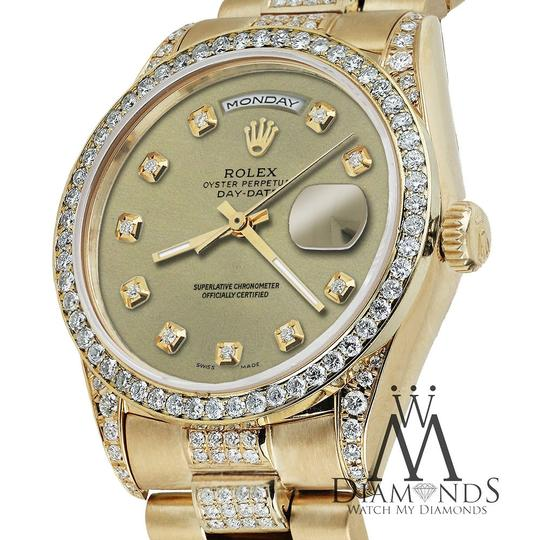 Rolex Rolex Yellow Gold Presidential Day Date Champagne Diamond 18 KT Gold Image 2