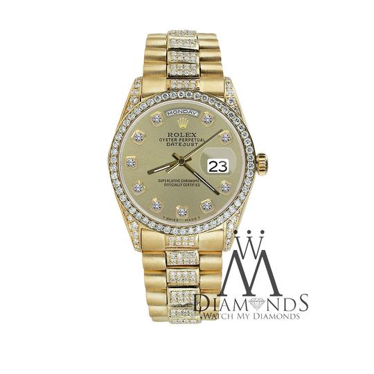 Rolex Rolex Yellow Gold Presidential Day Date Champagne Diamond 18 KT Gold Image 4