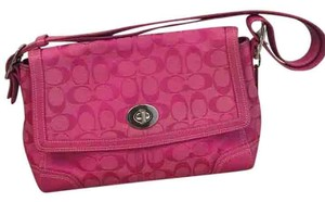 Coach Satchel in Hot Pink