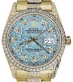 Rolex Rolex Presidential Day Date Jubilee Blue Diamond 18 KT Yellow Gold Image 0