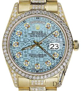 Rolex Rolex Presidential Day Date Jubilee Blue Diamond 18 KT Yellow Gold