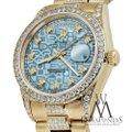 Rolex Rolex Presidential Day Date Jubilee Blue Diamond 18 KT Yellow Gold Image 1