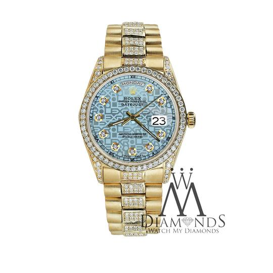 Rolex Rolex Presidential Day Date Jubilee Blue Diamond 18 KT Yellow Gold Image 2