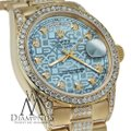 Rolex Rolex Presidential Day Date Jubilee Blue Diamond 18 KT Yellow Gold Image 3