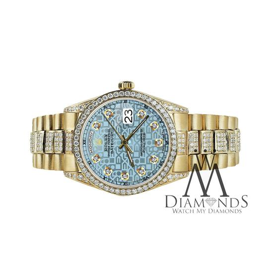 Rolex Rolex Presidential Day Date Jubilee Blue Diamond 18 KT Yellow Gold Image 4