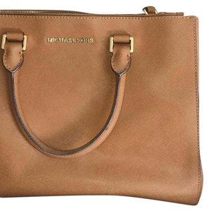 MICHAEL Michael Kors Casual Summer Travel Leather Satchel in Brown