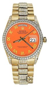Rolex Rolex Presidential Day Date Orange Roman Diamond 18 KT Yellow Gold