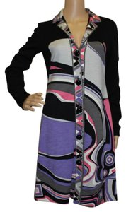 Emilio Pucci Sweater Wool Print Abstract Longsleeve Dress