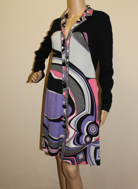 Emilio Pucci Sweater Print Abstract Longsleeve Dress