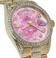 Rolex Rolex Presidential 36MM Day Date Pink Dial Diamond 18KT Yellow Gold Image 0