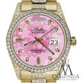 Rolex Rolex Presidential 36MM Day Date Pink Dial Diamond 18KT Yellow Gold Image 4