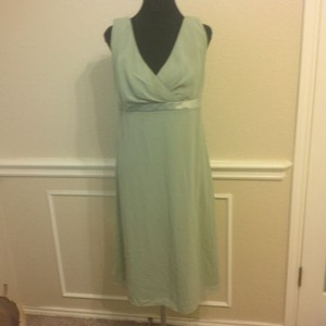 Alfred Sung Green Polyester Modern Bridesmaid/Mob Dress Size 20 (Plus 1x)