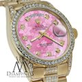 Rolex Rolex Presidential 36MM Day Date Pink Dial Diamond 18KT Yellow Gold Image 1