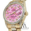 Rolex Rolex Presidential 36MM Day Date Pink Dial Diamond 18KT Yellow Gold Image 2