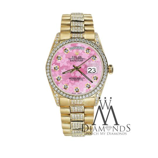 Rolex Rolex Presidential 36MM Day Date Pink Dial Diamond 18KT Yellow Gold Image 3