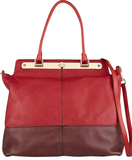 Preload https://img-static.tradesy.com/item/16062997/valentino-claret-and-dark-brown-textured-leather-tote-0-1-540-540.jpg