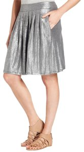 Eileen Fisher Skirt Metallic Ash Gray