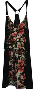 White House | Black Market short dress Black with multi color floral Versatile on Tradesy