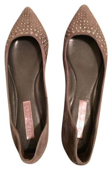 BCBGMAXAZRIA Party Formal Disco Grey sparkle Flats