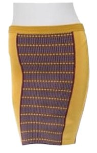 Zac Posen Bandage Pencil Stretch Skirt Mustard yellow