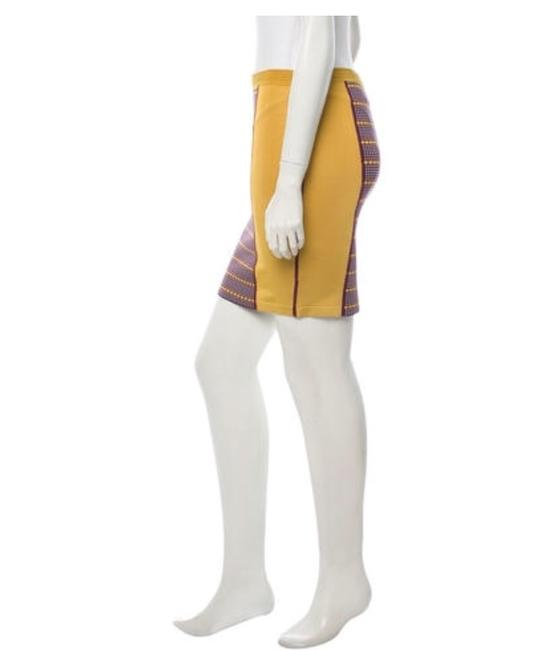 Zac Posen Bandage Pencil Stretch Summer Skirt Mustard yellow Image 1