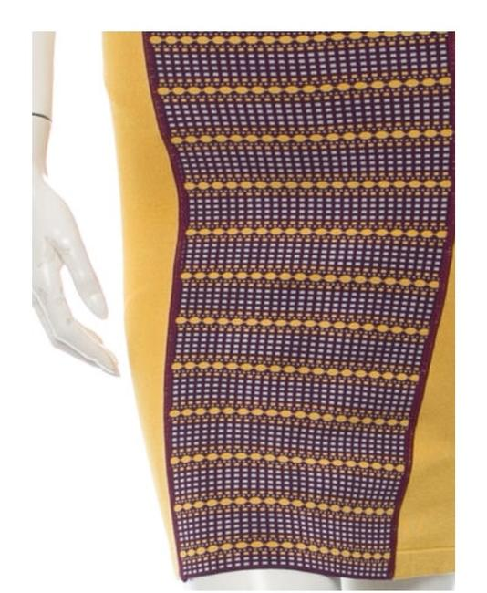 Zac Posen Bandage Pencil Stretch Summer Skirt Mustard yellow Image 3