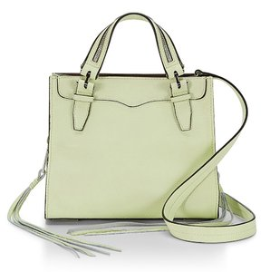 Rebecca Minkoff Blair Leather Silver Green New With Cross Body Bag