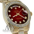 Rolex Rolex Presidential Day Date Red Vignette Dial Diamond 18KT Yellow Gold Image 3