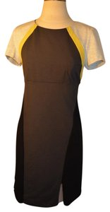 DKNY short dress Grey, black, and yellow colorblock on Tradesy