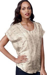 CAbi Silk #736 Artsy Bohemian Top Gray