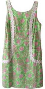 Lilly Pulitzer short dress Green and pink on Tradesy