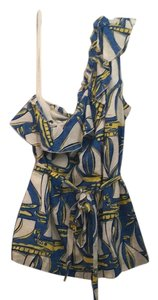 Lilly Pulitzer Top Blue, white, yellow
