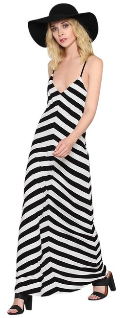 black and white stripes Maxi Dress by Gypsy Warrior