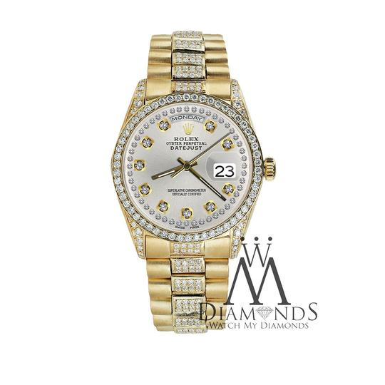 Rolex Rolex Presidential 36MM Day Date String Diamond 18 KT Yellow Gold Image 1