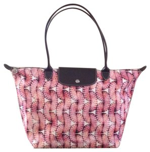 Longchamp New Surf & The City Tote in Coral