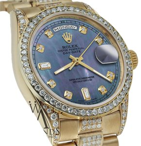 Rolex Rolex Presidential 36MM Day Date Tahitian Diamond Watch 18 KT Yellow Gold