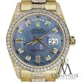 Rolex Rolex Presidential 36MM Day Date Tahitian Diamond 18 KT Yellow Gold Image 1