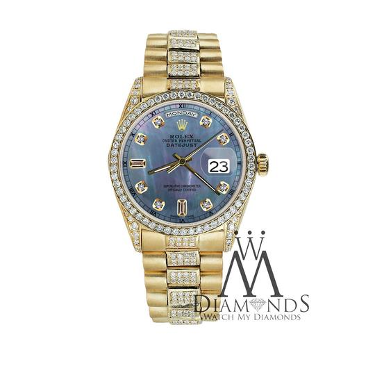 Rolex Rolex Presidential 36MM Day Date Tahitian Diamond 18 KT Yellow Gold Image 2