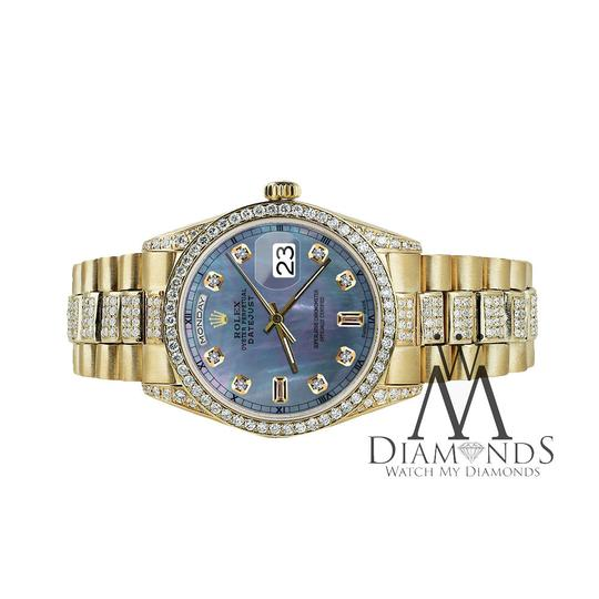 Rolex Rolex Presidential 36MM Day Date Tahitian Diamond 18 KT Yellow Gold Image 3