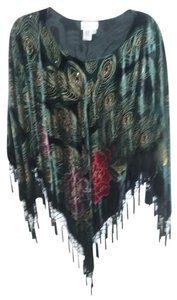 Coldwater Creek Evening Velvet Beaded Cape