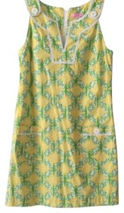 Lilly Pulitzer short dress Yellow, green, and white on Tradesy