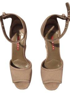 Prada Olive Wedges