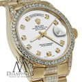 Rolex Rolex Presidential 36MM Day Date White Dial Diamond 18 KT Yellow Gold Image 1