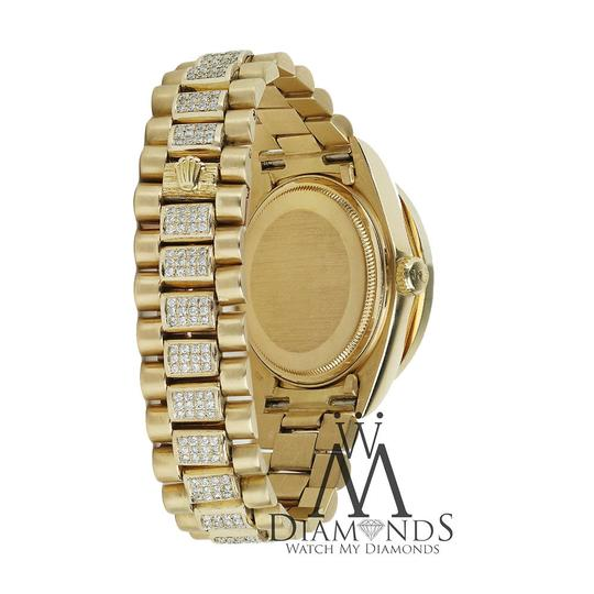 Rolex Rolex Presidential 36MM Day Date White Dial Diamond 18 KT Yellow Gold Image 4