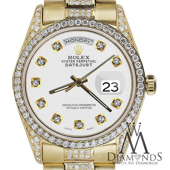 Rolex Rolex Presidential 36MM Day Date White Dial Diamond 18 KT Yellow Gold Image 5